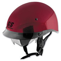 Speed and Strength SS400DVD Solid Speed Wineberry Half Helmet