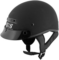 Speed and Strength SS300 Solid Speed Matte Black Half Helmet