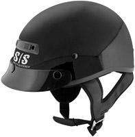 Speed and Strength SS300 Solid Speed Gloss Black Half Helmet