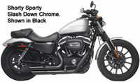 Rush Chrome Slash Down Shorty Sporty Full System Exhaust