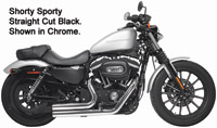 Rush Black Straight-Cut Shorty Sporty Full System Exhaust