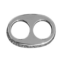 Rush Oval Chrome Replacement End Cap