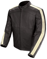 Joe Rocket Speedway Black/Ivory Leather Jacket
