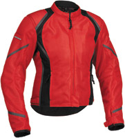 Firstgear Women's Mesh-Tex Red Jacket