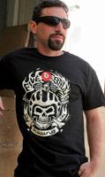 5 Ball Men's Racing Black T-Shirt