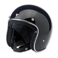 Biltwell Inc. Bonanza Gloss Black Open Face Helmet
