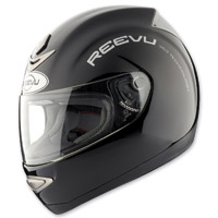 Reevu MSX1 Rear View Full Face Gloss Black Helmet