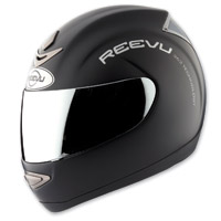 Reevu MSX1 Matte Black Rear View Full Face Helmet