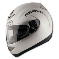Reevu MSX1 Silver Rear View Full Face Helmet