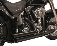 Rush Short Series Black Slash-Down Exhaust System