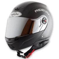 Reevu FSX1 Rear View Modular Matte Black Helmet