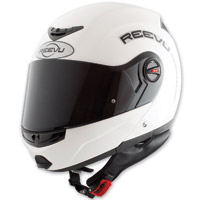 Reevu FSX1 Rear View Modular Gloss White Helmet