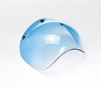 Biltwell Inc. Gradient Blue 3-Snap Bubble Shield