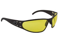 Gatorz Wraptor Black Frame with Yellow Lens Sunglasses