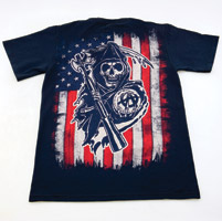 Sons of Anarchy Skull Logo with American Flag T-shirt