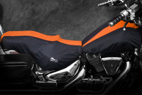 Black and Orange Seat and Tank Cover