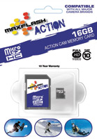 MAXFLASH Action 16GB Micro SD Memory Card