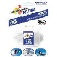 MAXFLASH Action 32GB Micro SD Memory Card