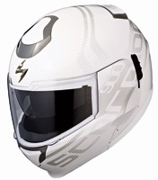 Scorpion EXO-900 White Furtive Transformer Helmet