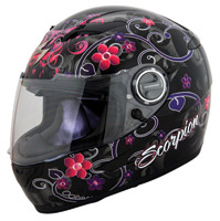 Scorpion EXO-500 Dahlia II Black Full Face Helmet