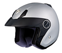 Scorpion EXO-250 Light Silver Open Face Helmet