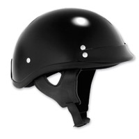 Skid Lid Black Traditional Helmet