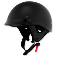 Skid Lid Traditional Flat Black Half Helmet