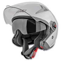 Speed and Strength SS2200 Silver Solid Speed Helmet