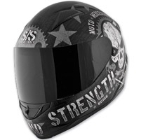 Speed and Strength SS1100 Moto Mercenary Black Full Face Helmet