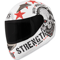 Speed and Strength SS1100 Moto Mercenary White Full Face Helmet