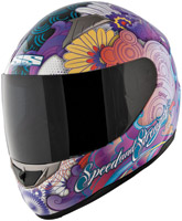 Speed and Strength SS1100 Flower Power Purple Full Face Helmet