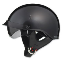 GMAX GM65 Full Dress Gloss Black Half Helmet