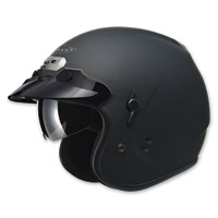 GMAX GM32 Open Face Flat Black Helmet