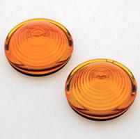 Auto-Gem Amber Glass Bullseye Lens