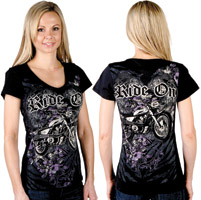 Liberty Wear Ride On Embellished Black Top