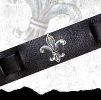 That's A Wrap Fleur De Lis Conch Leather Cuff