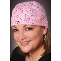 That's A Wrap Pink Bandana Cordlock Cap