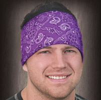 That's A Wrap Purple Bandana Knotty Band