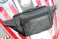 Daytona Gear Leather 3-Pocket Magnetic Tank Bag