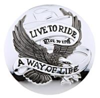 'Live to Ride' Gas Cap Cover