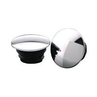 J&P Cycles® Chrome Steel Low Profile Domed Gas Cap Set
