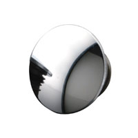 J&P Cycles® Chrome Steel Low Profile Domed Vented Gas Cap