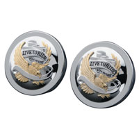 J&P Cycles® 'Live To Ride' Gas Cap Set