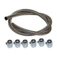J&P Cycles® Braided Stainless Steel Fuel Line