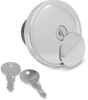 Chrome Vented Screw-In Locking Gas Cap
