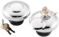 J&P Cycles® Chrome Screw-In Locking Gas Cap Set