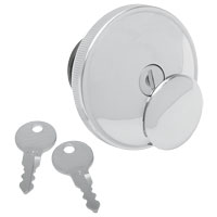 J&P Cycles® Chrome Non-Vented Screw-In Locking Gas Cap