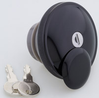 J&P Cycles® Black Vented Screw-In Locking Gas Cap