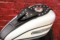 Mustang Studded Tank Bib with Pouch for Sportster with 3.3 Gallon Tank