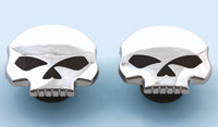 J&P Cycles® Chrome Skull Gas Cap Set